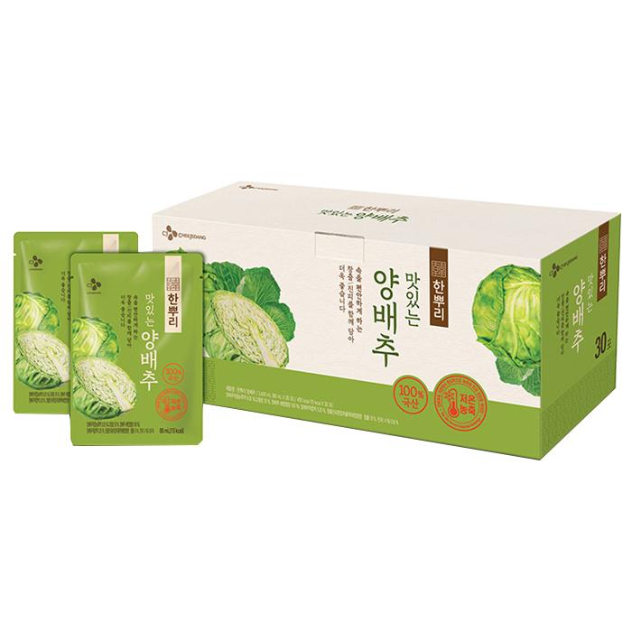 CJ제일제당 한뿌리 양배추 건강즙, 80ml, 30개입