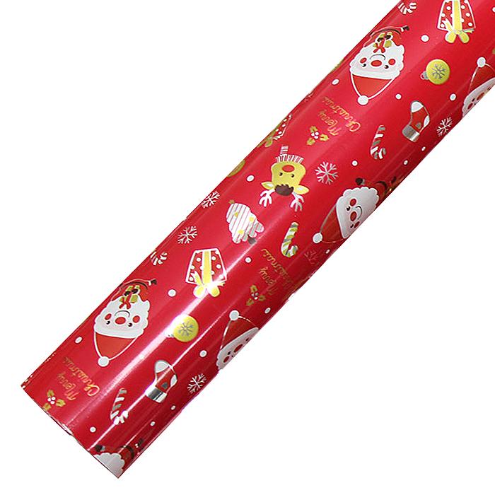포포팬시 해피산타 크리스마스 비닐증착포장지, 레드, 1개