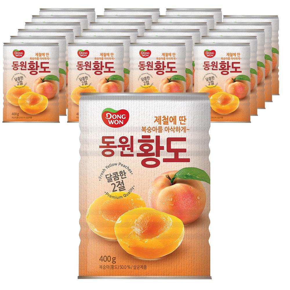 동원 복숭아 황도 400g 24개입 박스, 24