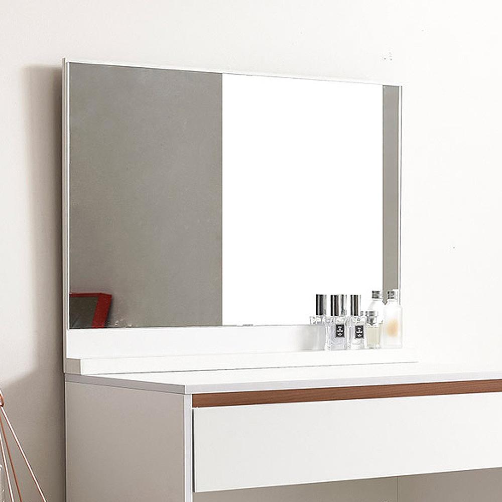 라샘 스텐드 받침형 거울, 화이트