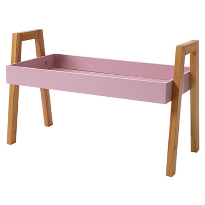 이소품 코지니아 수납 선반 1단, 핑크