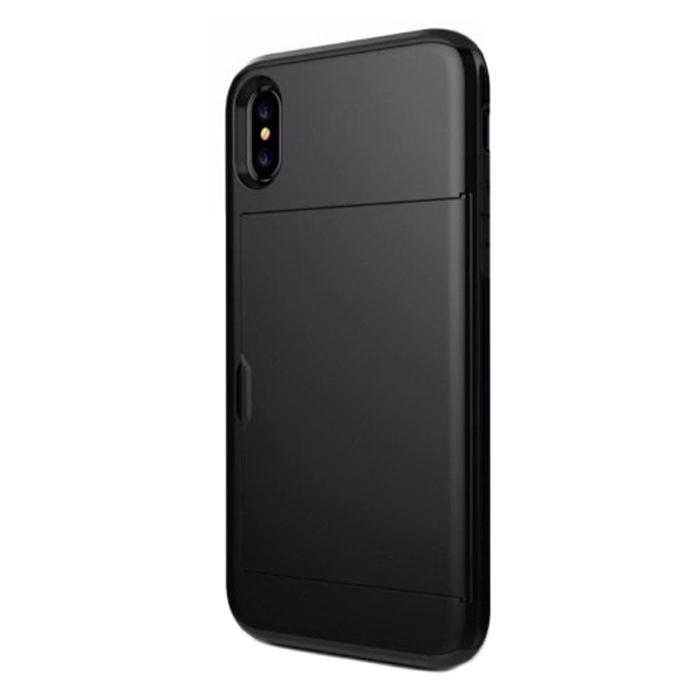 모모켓 인카드하이브리드 아이폰7 아이폰8케이스 휴대폰 케이스 블랙 아이폰7용