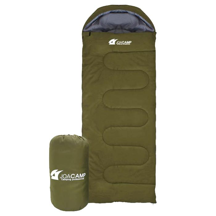 조아캠프 마운트침낭 후드 + 수납가방 세트, 카키, 1세트