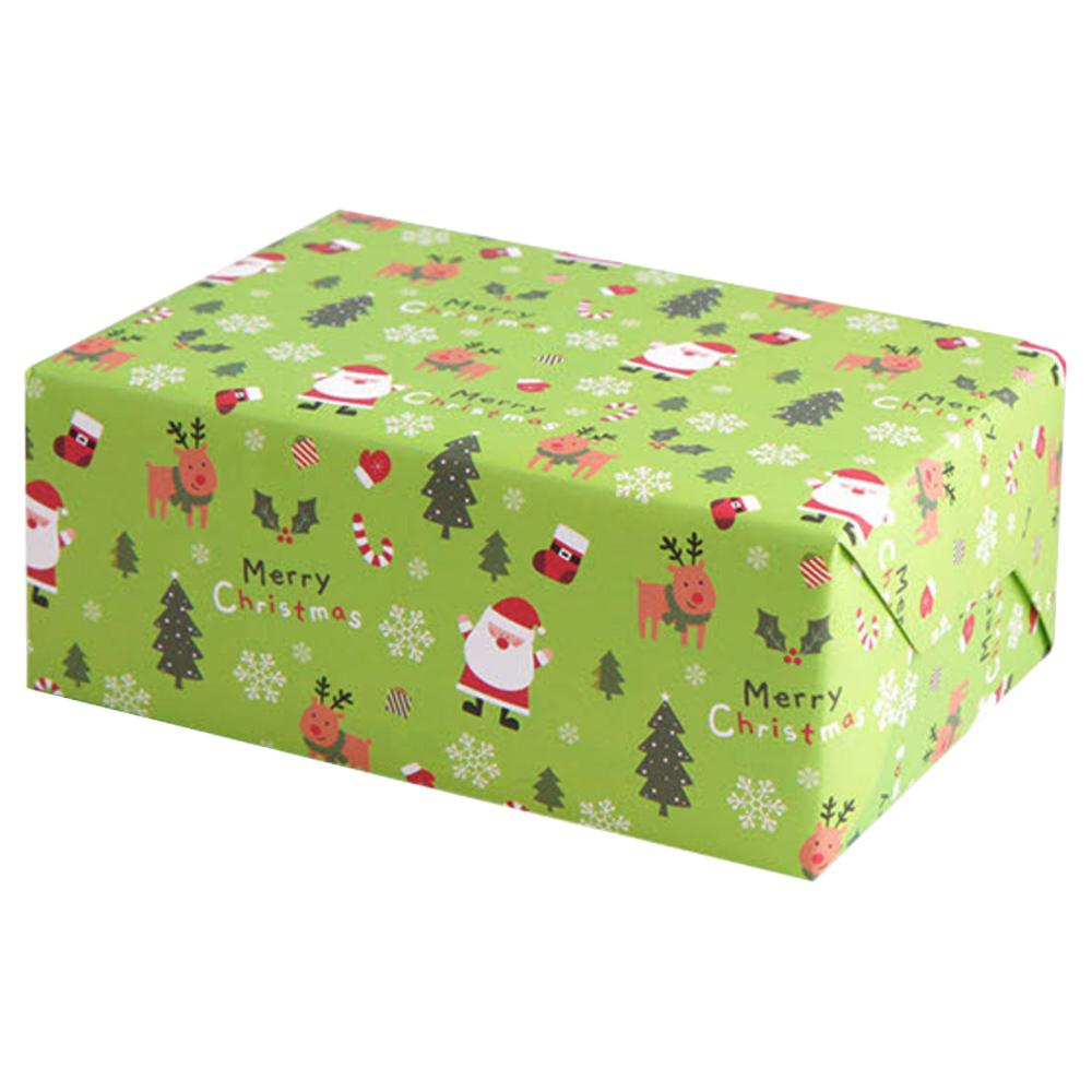 아이엔엠엔피 JP 디자인 산타 포장지, 그린, 10매입