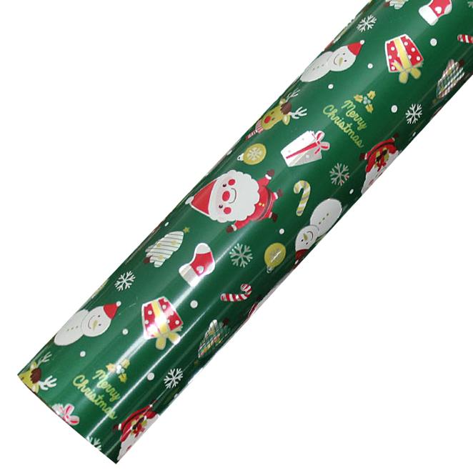 포포팬시 해피산타 크리스마스 비닐증착포장지, 그린, 1개