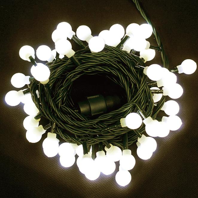 다우에프앤지 LED 미니앵두 50구 + 코드선, 녹색선 웜화이트