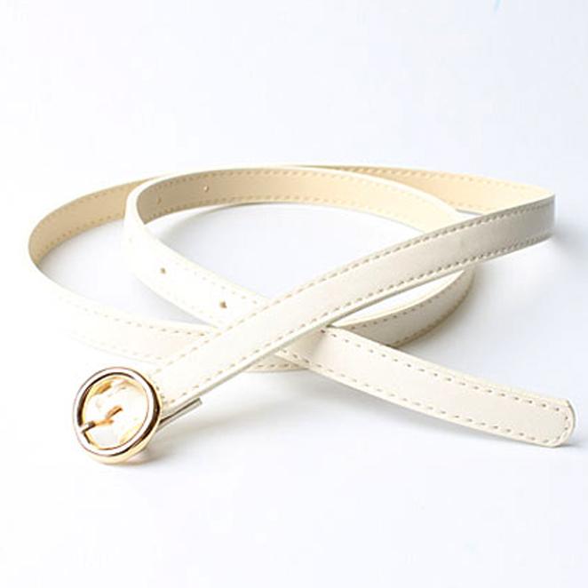 하늘벨트 패션포인트 인조가죽 원형 바바리 여성용