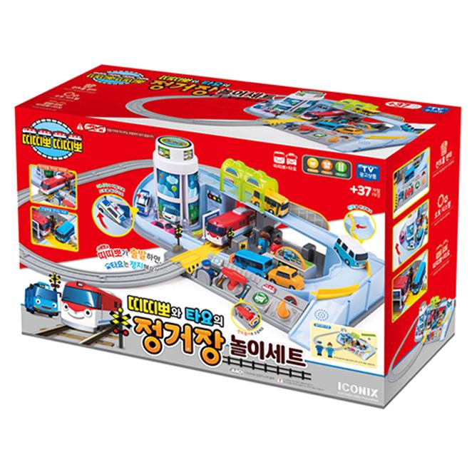 띠띠뽀와 타요의 정거장 놀이세트, 혼합 색상