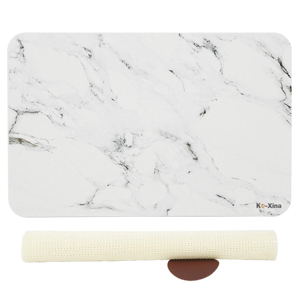 코시나 규조토 발매트 + 미끄럼 방지패드, 유니크대리석