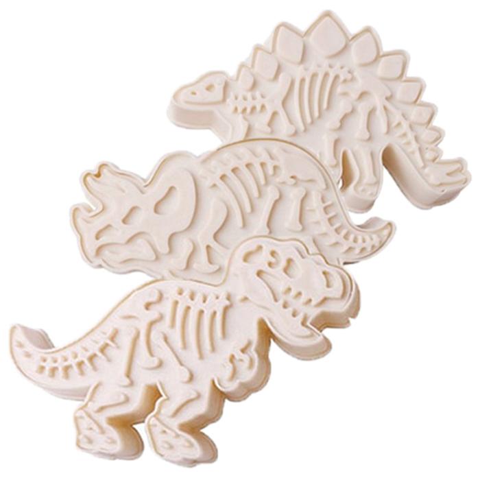 SL쿠키커터 스템프 쥬라기 공룡뼈 3종 세트, 1세트