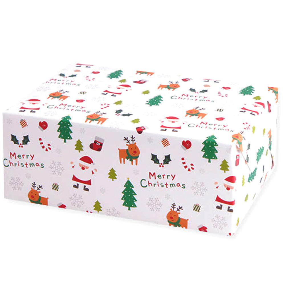아이엔엠엔피 JP 디자인 산타 포장지, 화이트, 10매입