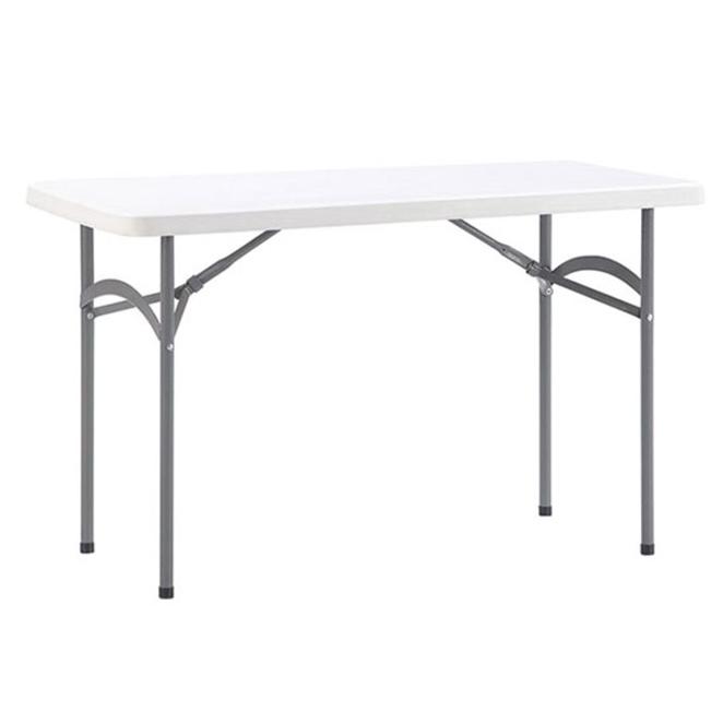 몽돌 브로몰딩 테이블 1220 일자형, 화이트