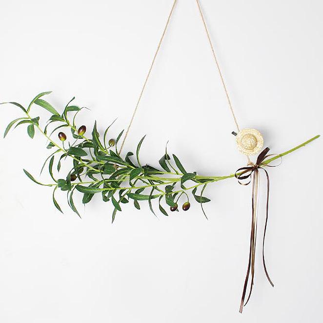 모리앤 올리브 열매가지 가랜드, 혼합색상