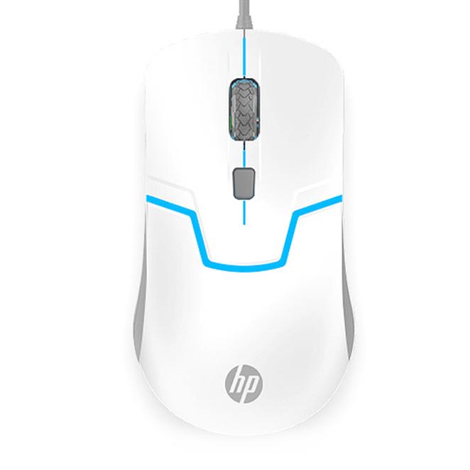 HP LED 백라이트 게이밍 마우스, M100, 화이트