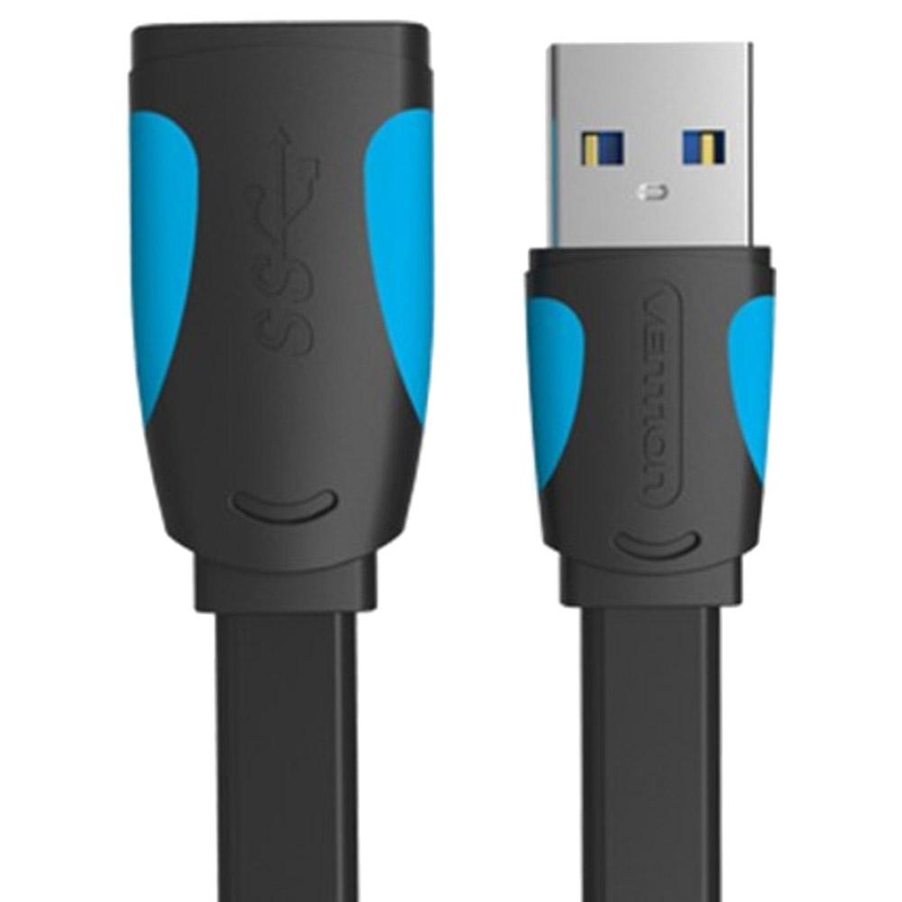 벤션 칼국수형 USB 3.0 연장케이블 연장선 블랙 03.벤션 칼국수형 USB3.0 연장 케이블 1.5m, 1개