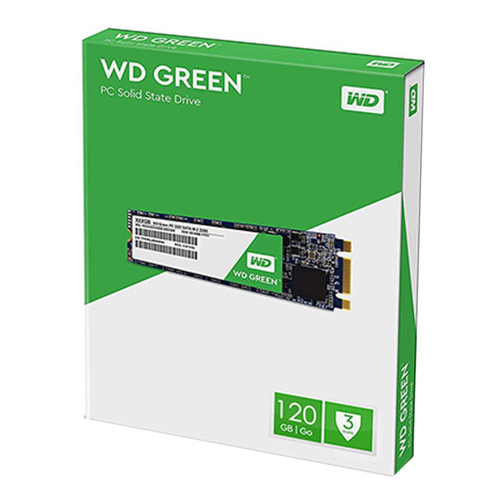 WD Green SATA M.2 2280 SSD, WDS120G2G0B, 120GB