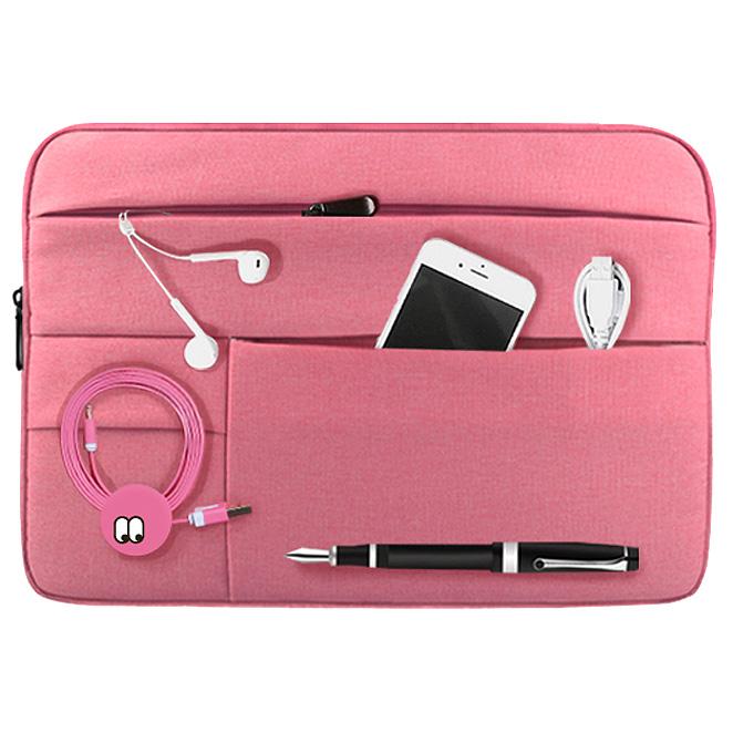 디스트 포켓 노트북파우치, 핑크, 15.6in