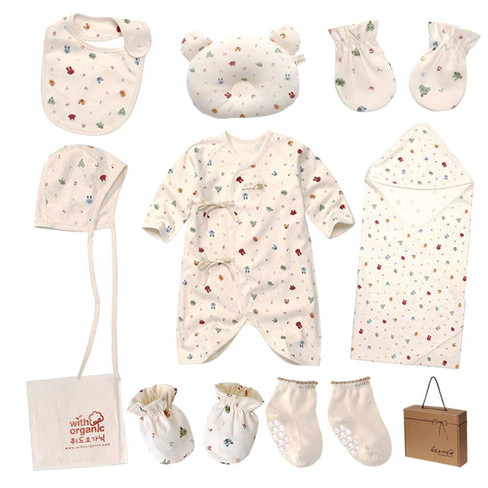 위드오가닉 신생아용 동물얼굴 출산선물 10종