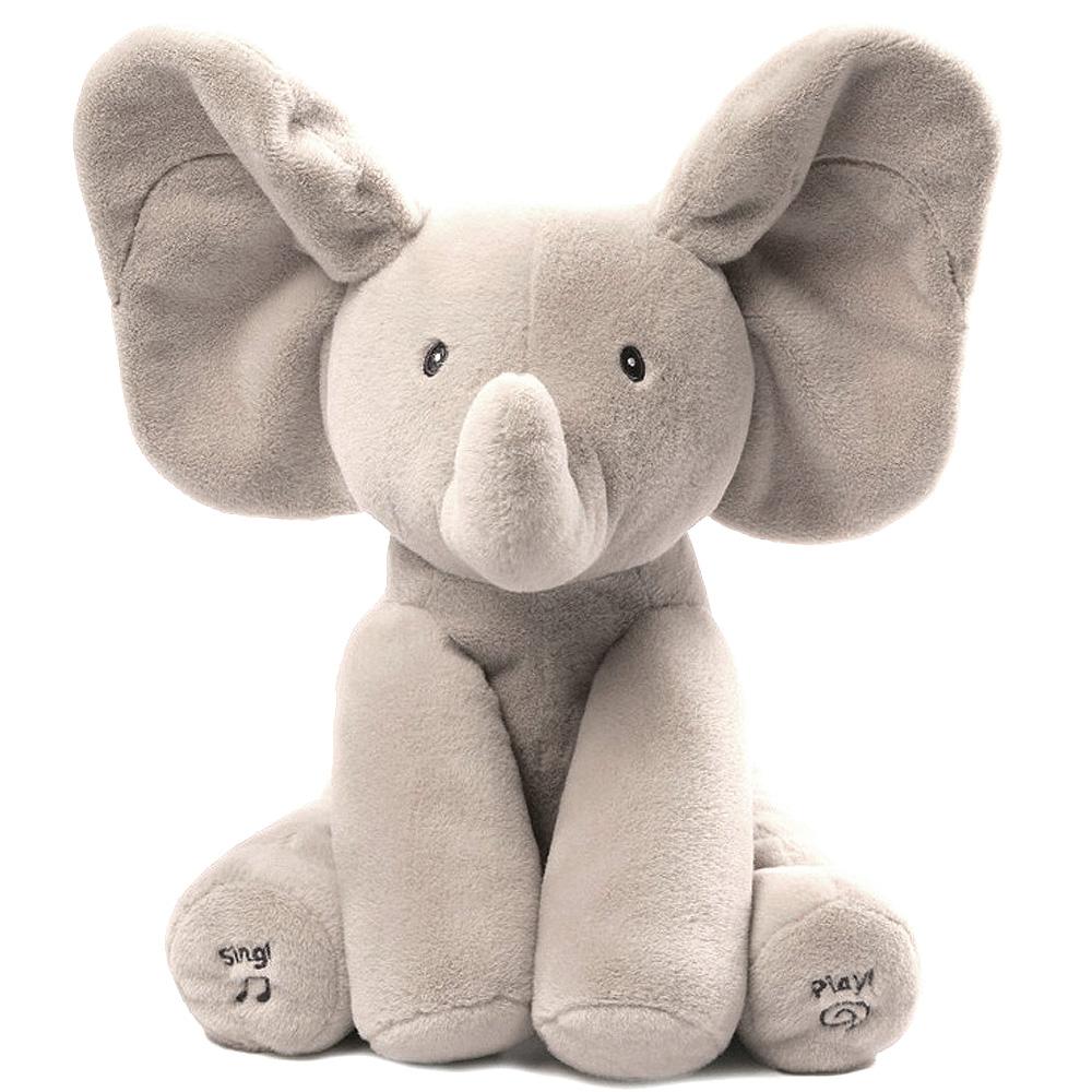 건드 노래하는 까꿍 코끼리 작동완구 G4053934, 회색