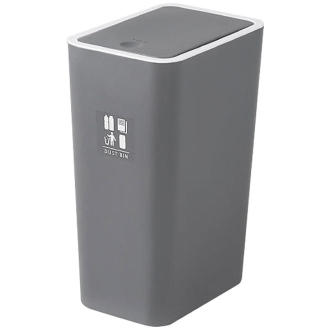 원터치 인테리어 휴지통 + DIY스티커 6p, 그레이, 1개