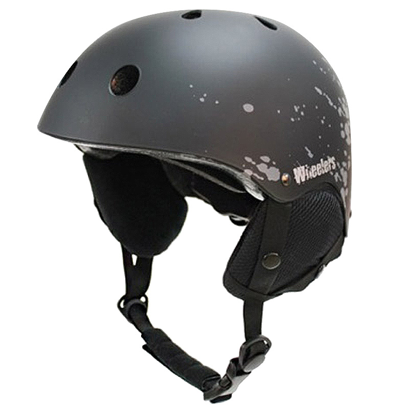 휠러스 스노우 운동용 안전 헬멧 WH-90, 블랙