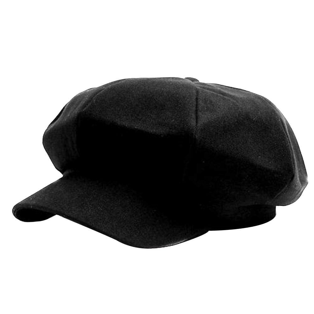 파스텔톤 베이직 뉴스보이캡 남녀공용베레모/헌팅캡 블랙 FREE