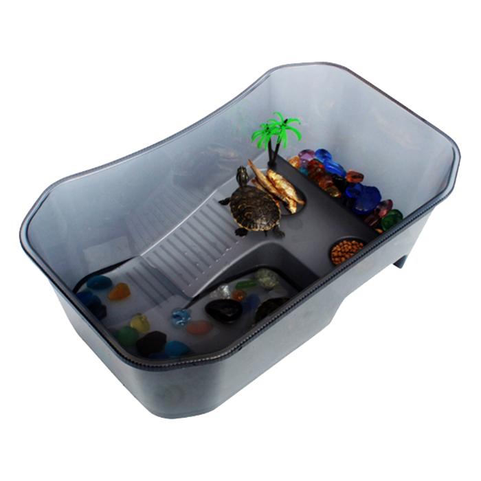 고운물 노모펫 개방식 거북이 어항 대형 블랙 NX-11, 1개