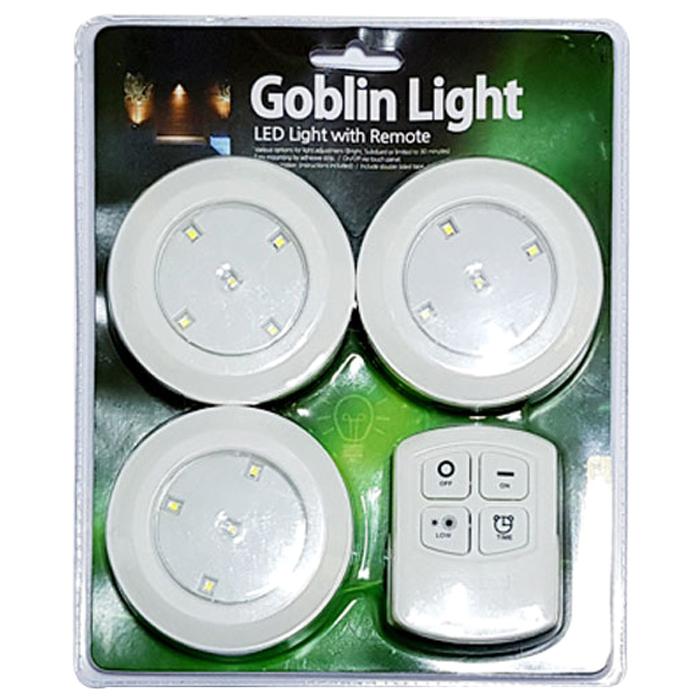 고블린 LED 라이트 램프 3p + 리모컨, 혼합 색상