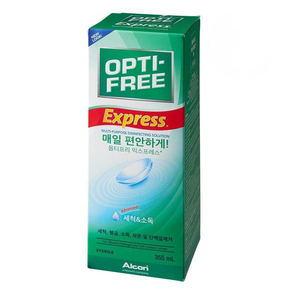 옵티프리 익스프레스 렌즈 세정액, 355ml, 1개