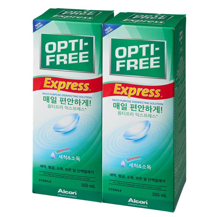 옵티프리 익스프레스 렌즈세정액, 355ml, 2개