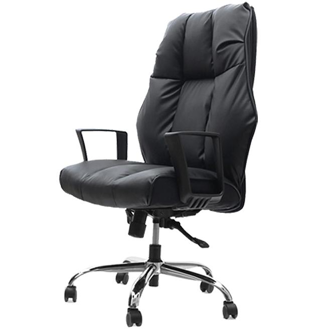 의자명가 타이탄1 일반좌판 사각팔걸이 의자, 블랙