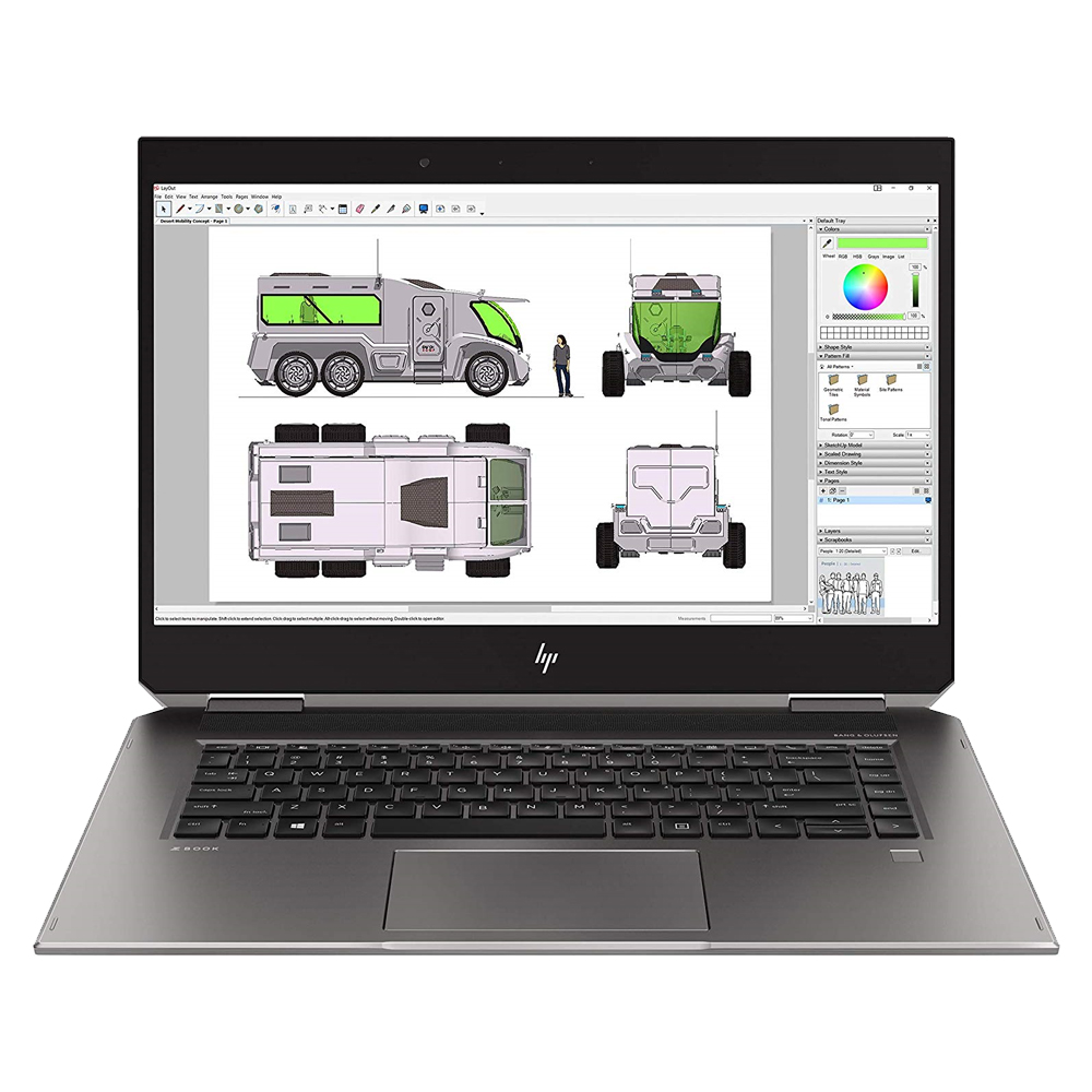 HP 노트북 Zbook 15 Studio G5-2YN55AV (i7-8750H 39.6cm Quadro P1000 4G), 256GB, 8GB, WIN10 Home