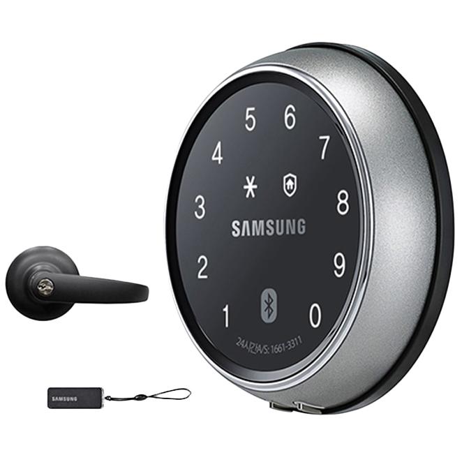 삼성SDS 스마트 도어록 + 카드키 + 현관정 블랙 SHP-DS700P