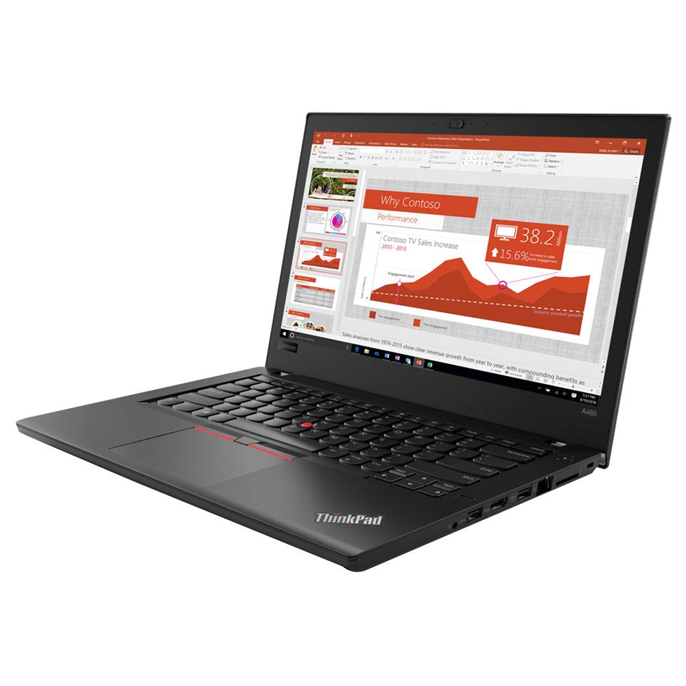 레노버 ThinkPad A485 노트북 20MUS00700 (Ryzen5 PRO 2500U 36.5cm), 256GB, 8GB, WIN10 Pro