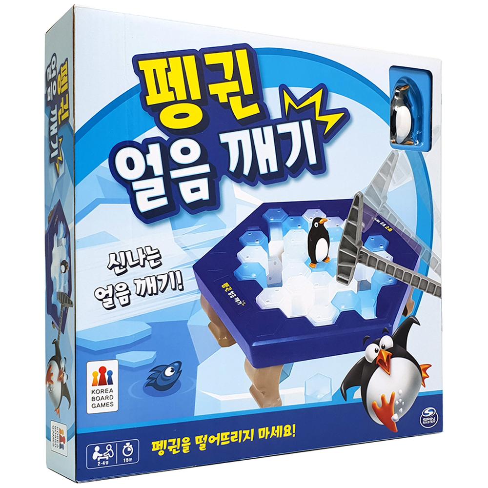 코리아보드게임즈 펭귄 얼음 깨기 보드게임, 혼합 색상