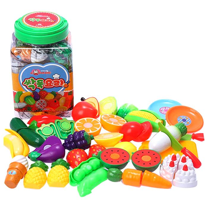 아이사랑 싹둑요리 과일자르기 놀이 세트, 혼합 색상