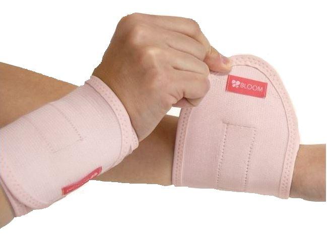 블룸마터니티 임부용 손목 보호대 2p, 라이트 핑크