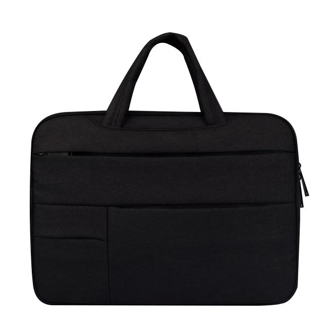 플럭스 핸디 포켓 노트북 가방 파우치 딥 블랙, 15.6in
