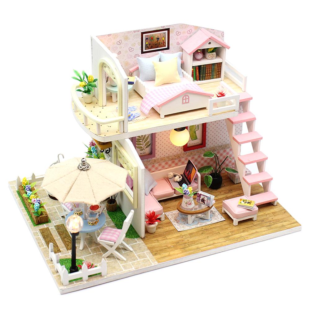 아트조이 DIY 미니어처하우스 Pink Loft, 혼합 색상, 1세트