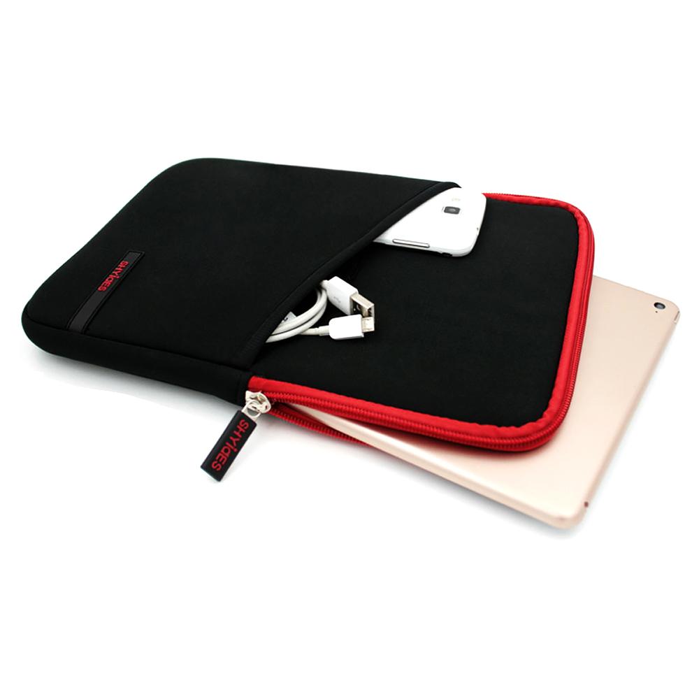 DM 알럽홈 라인포인트 태블릿파우치 20 x 27 x 2 cm, 포켓레드