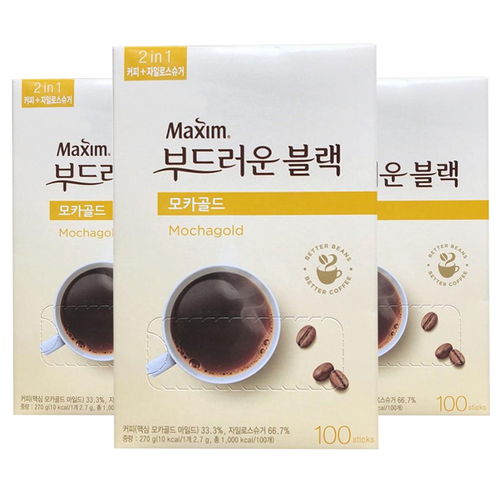 맥심 모카골드 부드러운 블랙 커피믹스, 2.7g, 300개