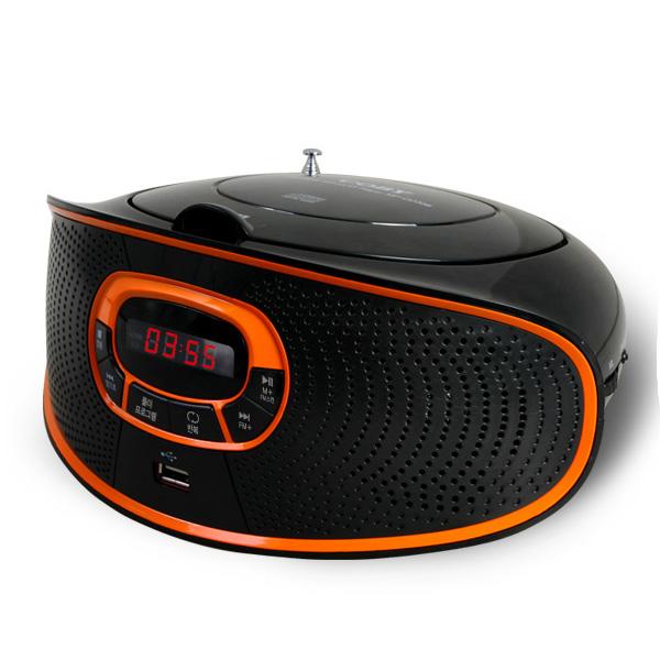 코비 포터블 MP3 CD플레이어, MP-CD356, 블랙