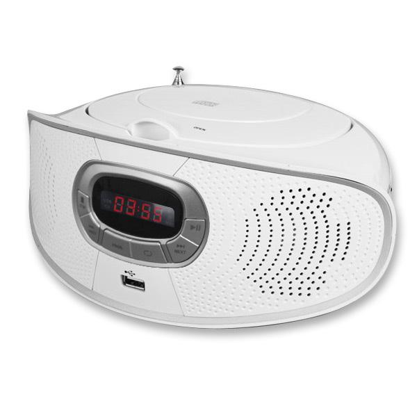 코비 MP-CD880 포터블 CD MP3 USB SD AUX단자 라디오, MP-CD356[화이트], 화이트