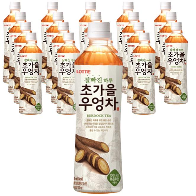 롯데칠성음료 잘빠진 하루 초가을 우엉차, 500ml, 20개