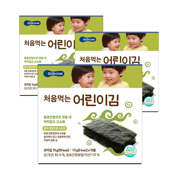 베베쿡 처음 먹는 어린이 김, 오리지널, 30개입