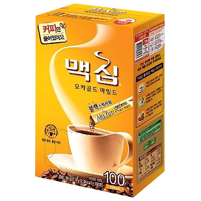 맥심 모카골드 마일드 블랙 스틱커피, 0.9g, 100개