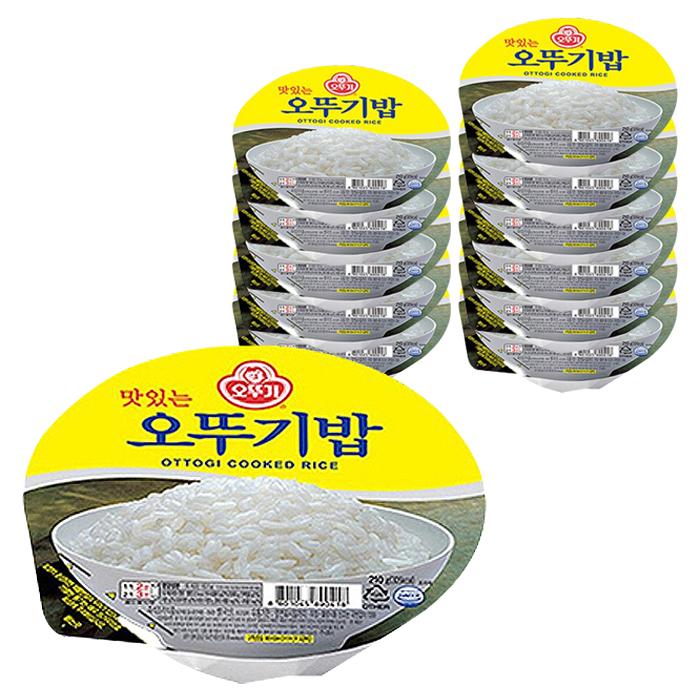 오뚜기 맛있는 오뚜기밥, 210g, 12개