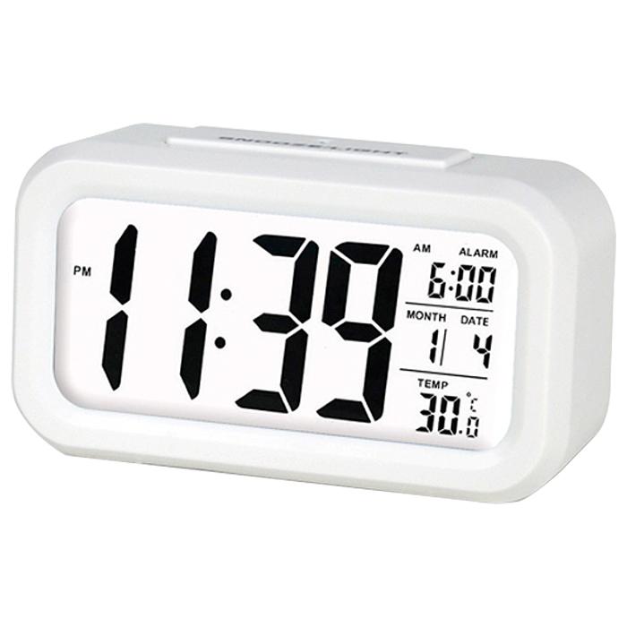 촘스토리 디지털 탁상시계 센서라이트02, 화이트