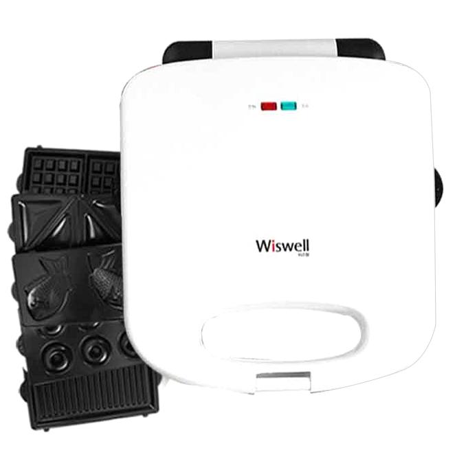위즈웰 간식 메이커 5종 플레이트 패키지 화이트 WSW-6137