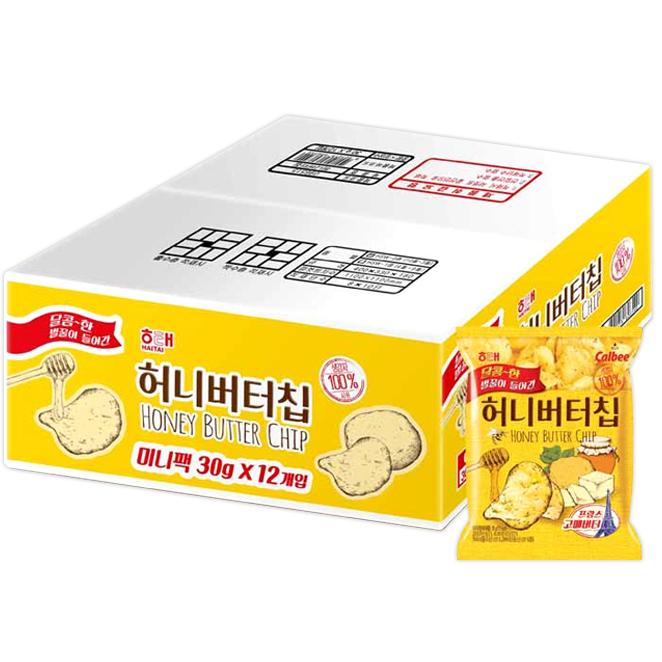 해태제과 허니버터칩 미니, 30g, 12개
